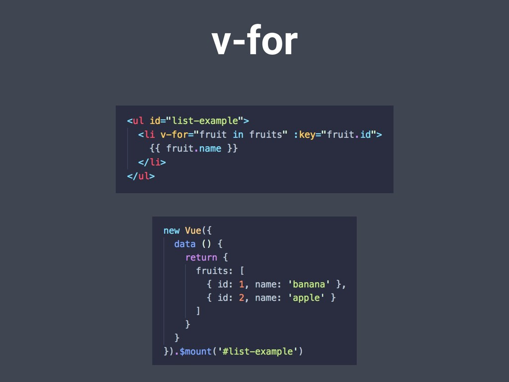 v-for