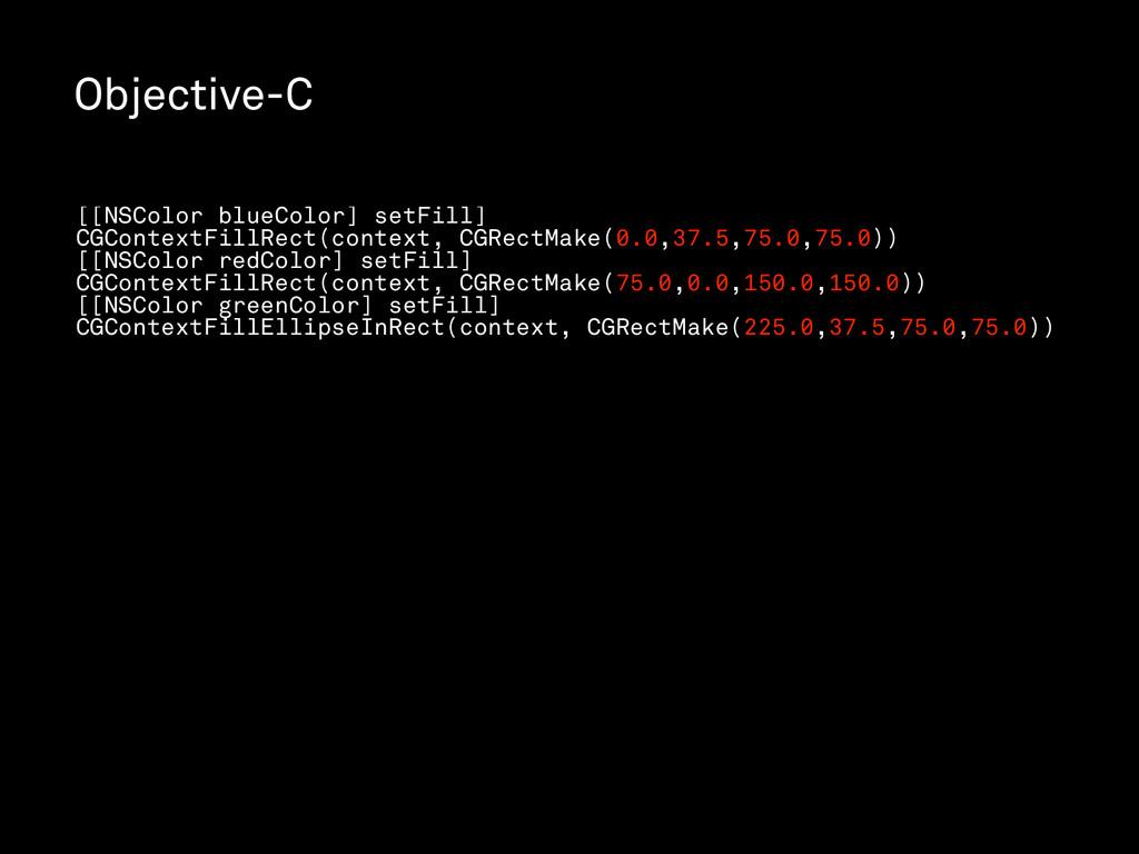 Objective-C [[NSColor blueColor] setFill] CGCon...