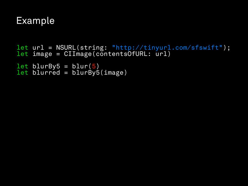 "Example let url = NSURL(string: ""http://tinyurl..."
