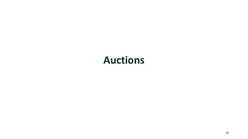 Auctions 21