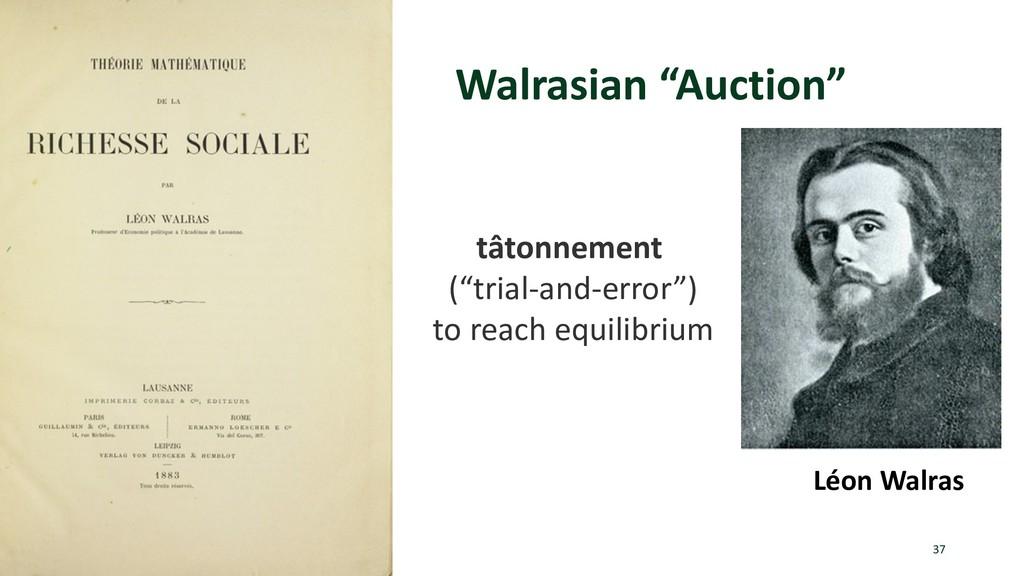 """Walrasian """"Auction"""" 37 Léon Walras tâtonnement ..."""