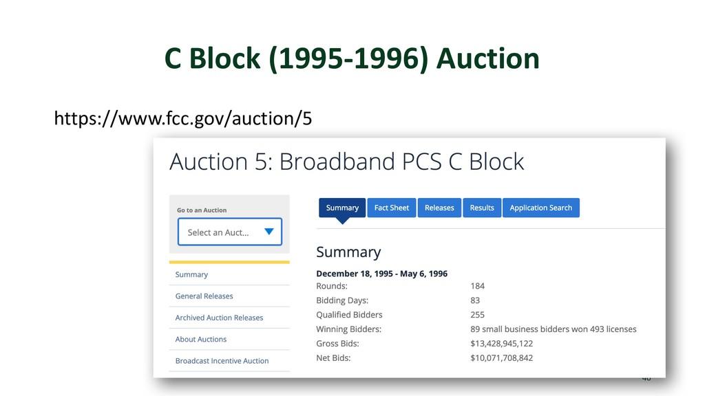C Block (1995-1996) Auction https://www.fcc.gov...
