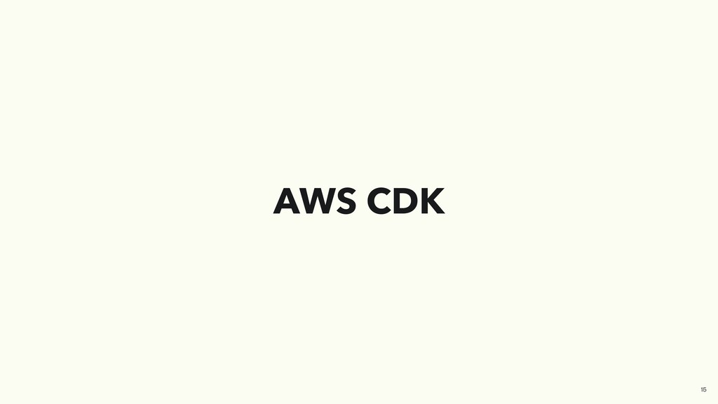 AWS CDK 15