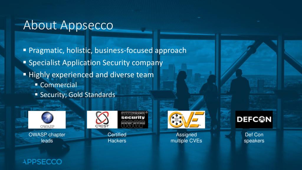 ▪ Pragmatic, holistic, business-focused approac...