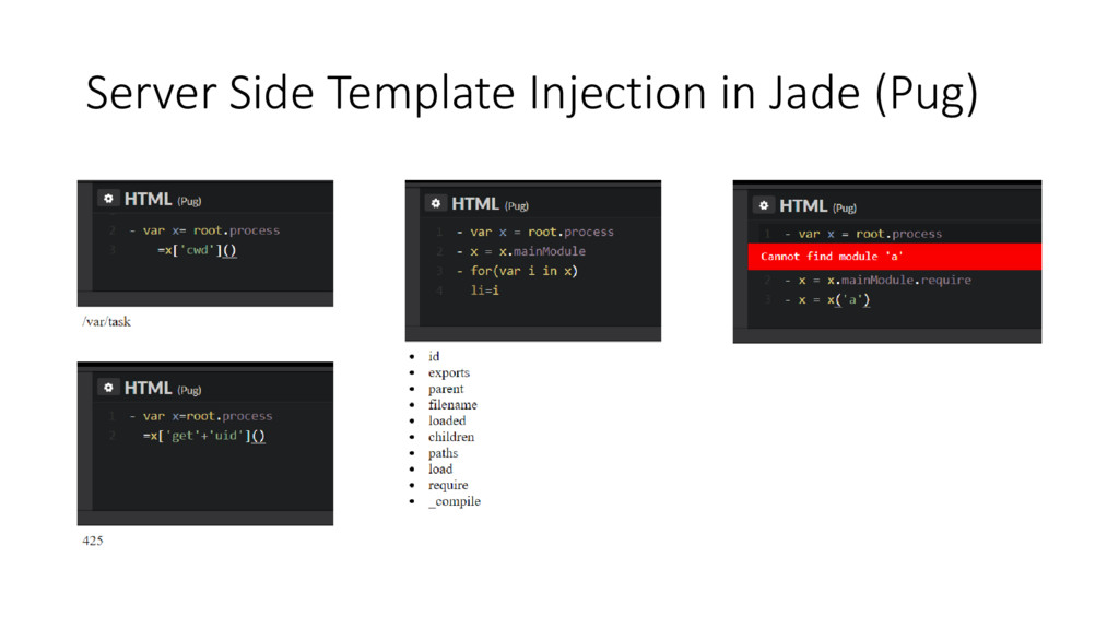 Server Side Template Injection in Jade (Pug)