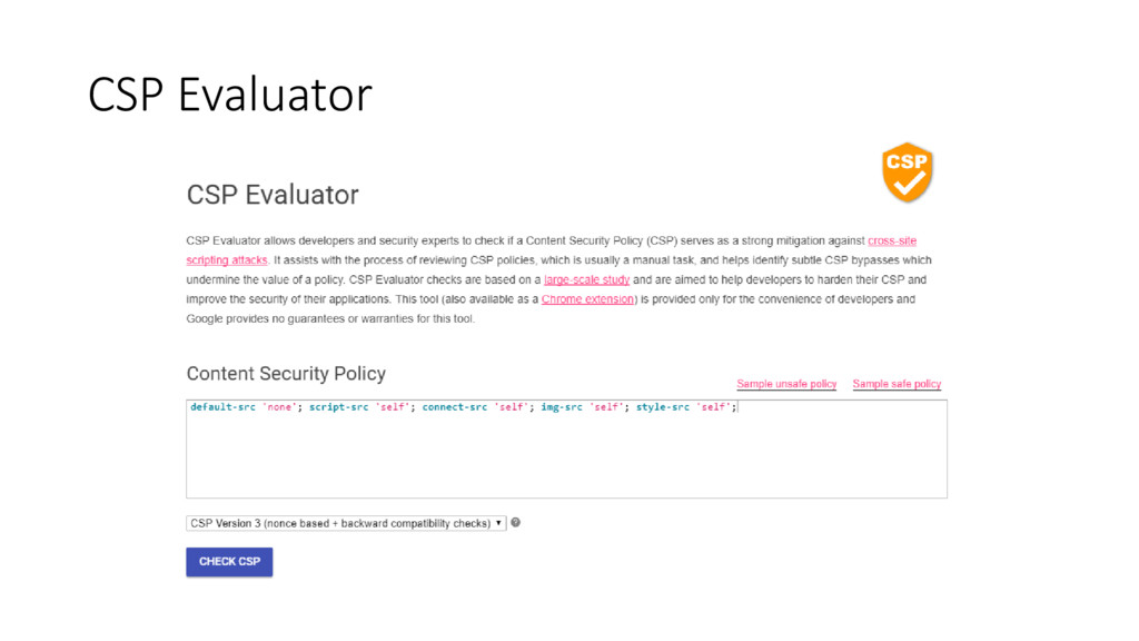 CSP Evaluator