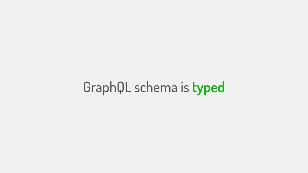 GraphQL schema is typed