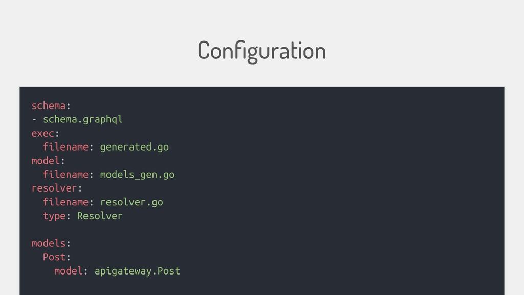 Configuration schema: - schema.graphql exec: fil...