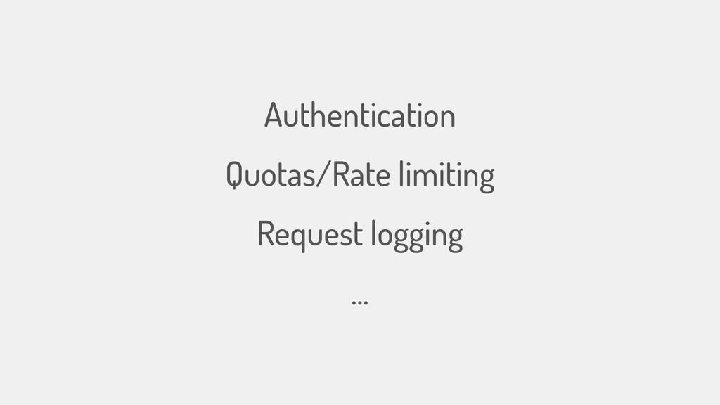 Authentication Quotas/Rate limiting Request log...