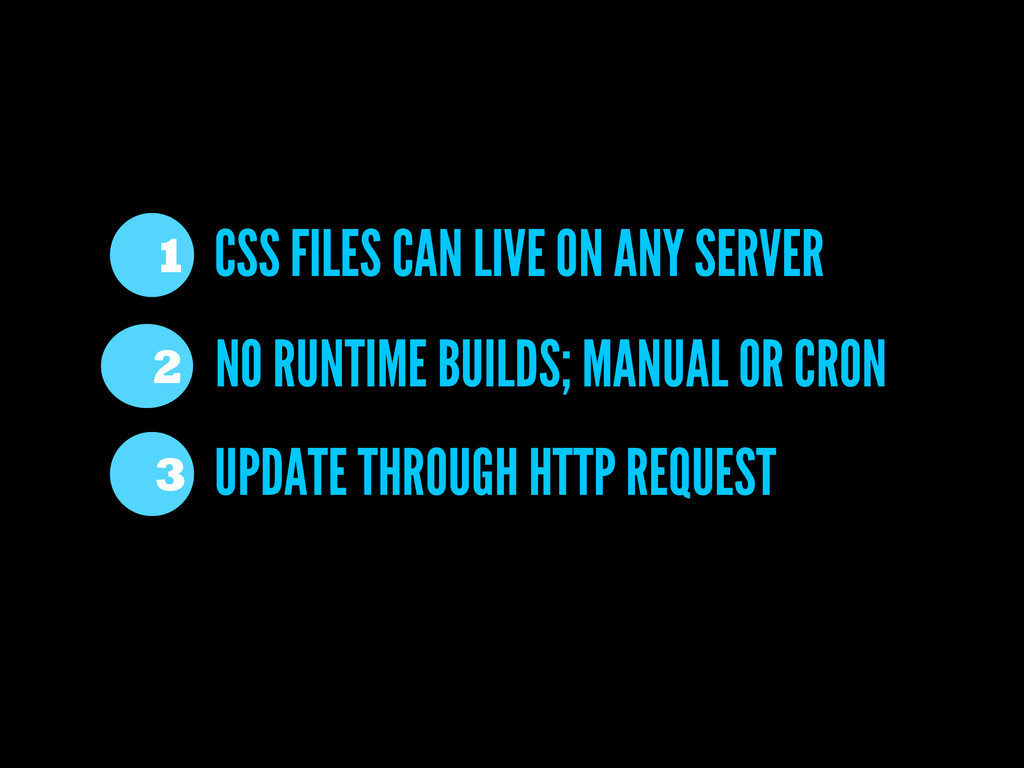 CSS FILES CAN LIVE ON ANY SERVER 1 UPDATE THROU...