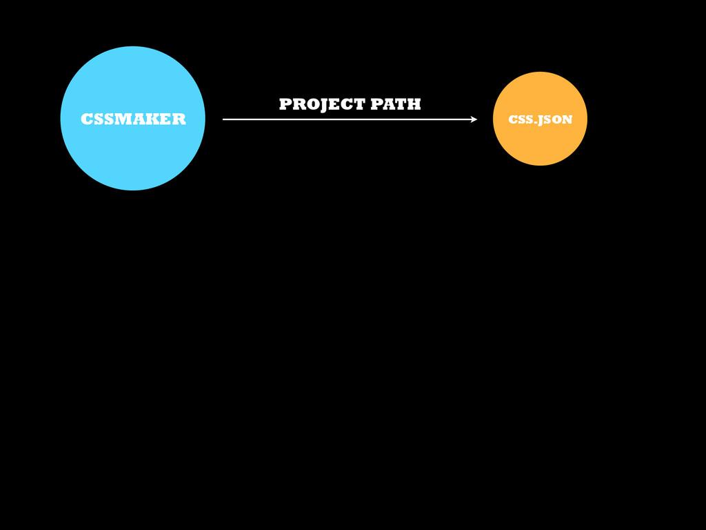 CSSMAKER CSS.JSON PROJECT PATH