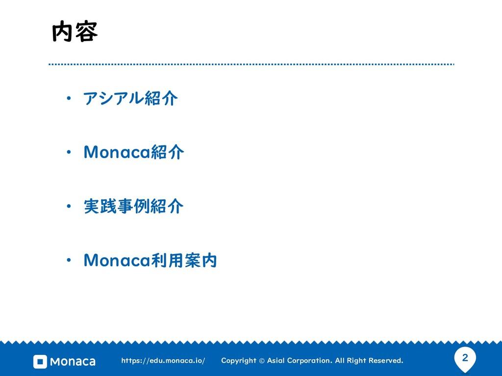 2 https://edu.monaca.io/ Copyright © Asial Corp...