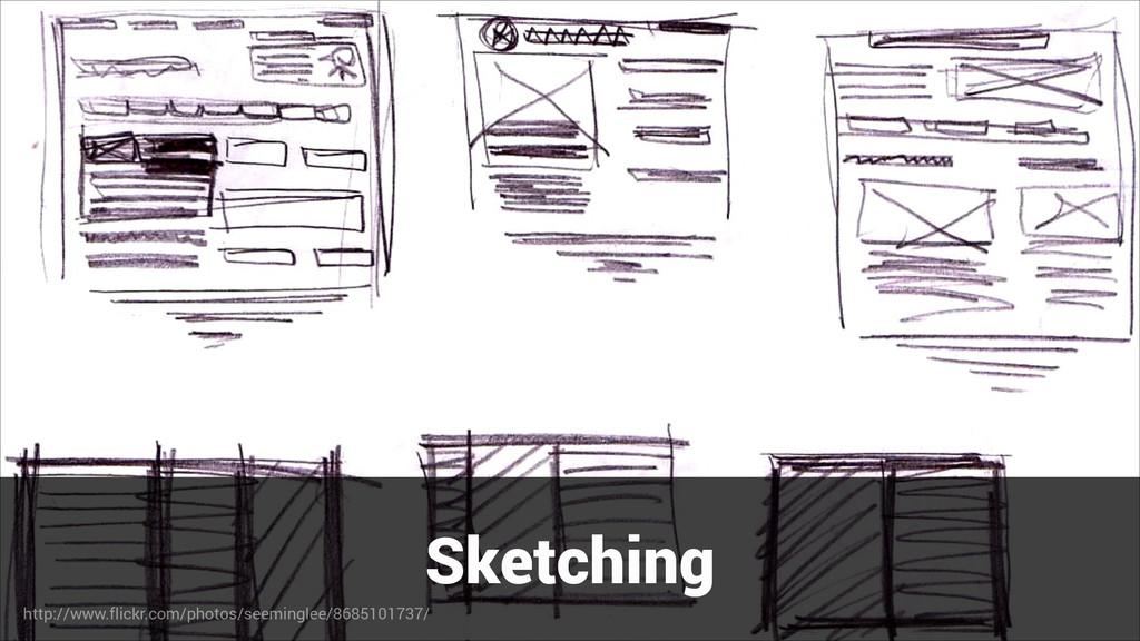 Sketching http://www.flickr.com/photos/seemingl...