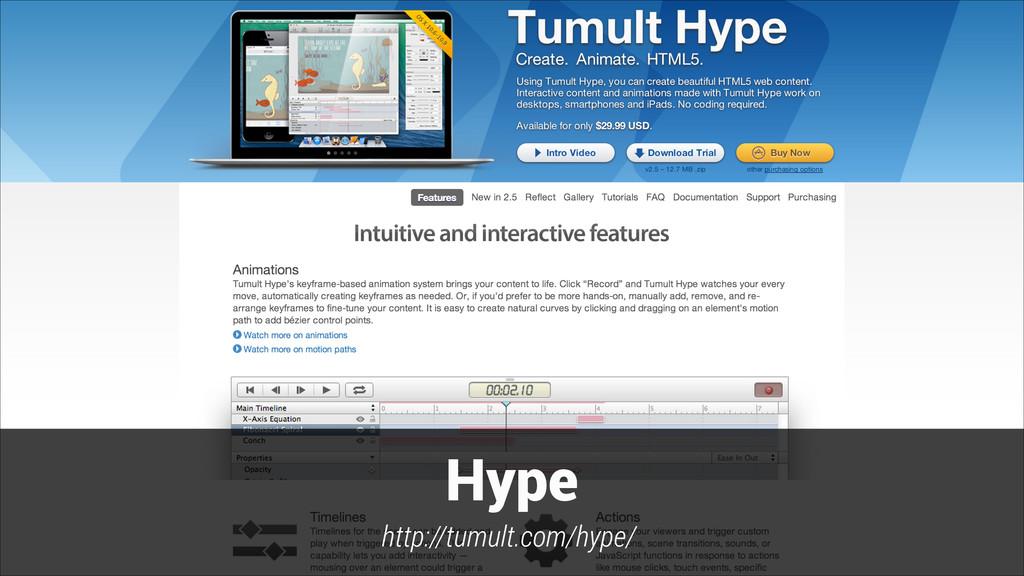 Hype http://tumult.com/hype/