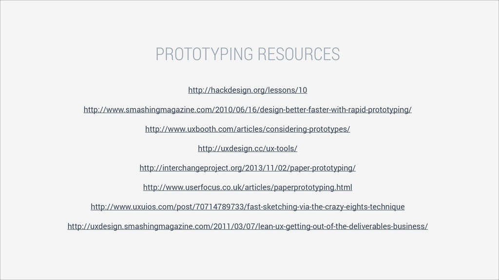 PROTOTYPING RESOURCES http://hackdesign.org/les...