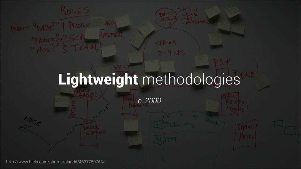 Lightweight methodologies c. 2000 http://www.fl...
