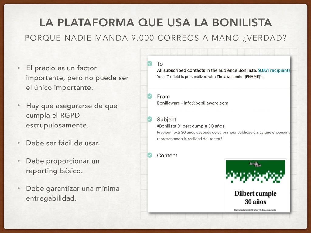 PORQUE NADIE MANDA 9.000 CORREOS A MANO ¿VERDAD...