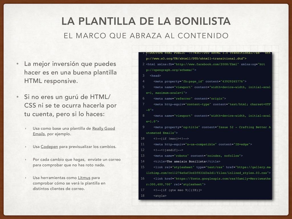 EL MARCO QUE ABRAZA AL CONTENIDO LA PLANTILLA D...