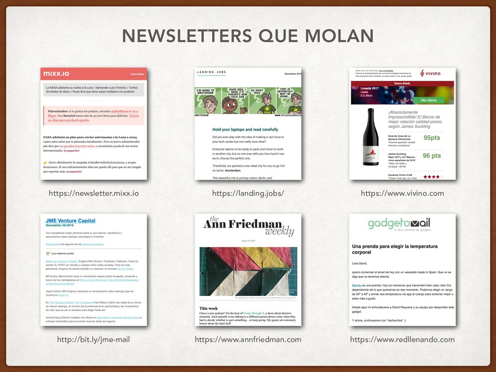 NEWSLETTERS QUE MOLAN https://newsletter.mixx.i...