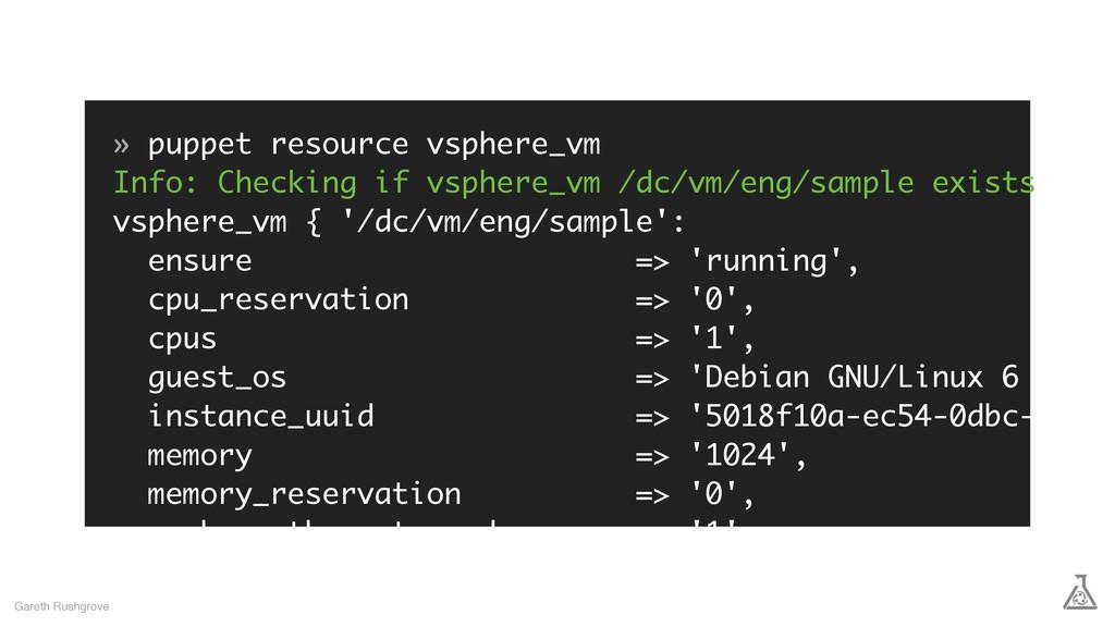 » puppet resource vsphere_vm Info: Checking if ...