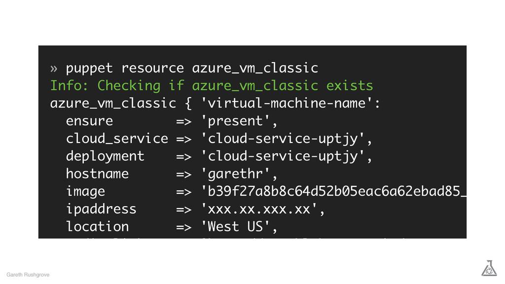 » puppet resource azure_vm_classic Info: Checki...