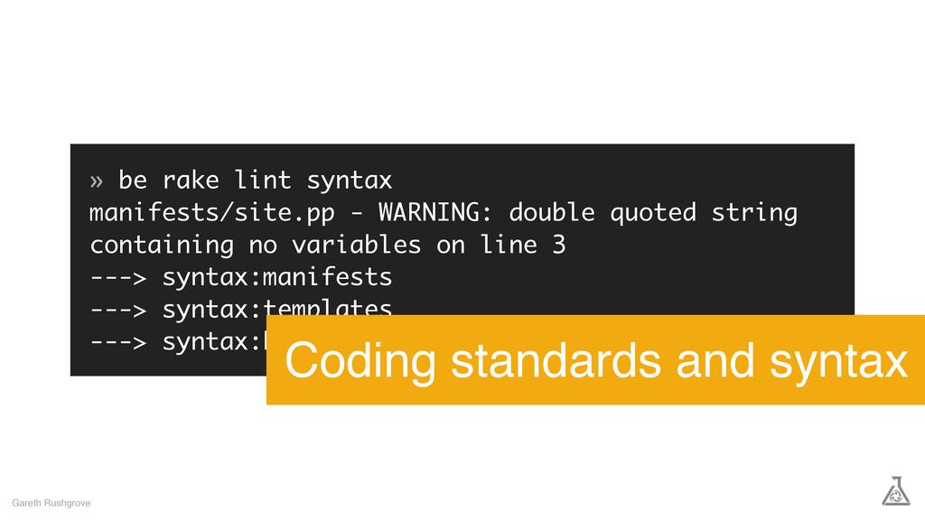 » be rake lint syntax manifests/site.pp - WARNI...