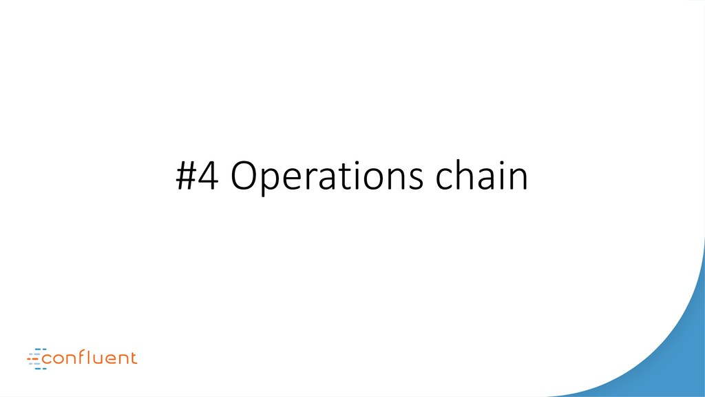#4 Operations chain
