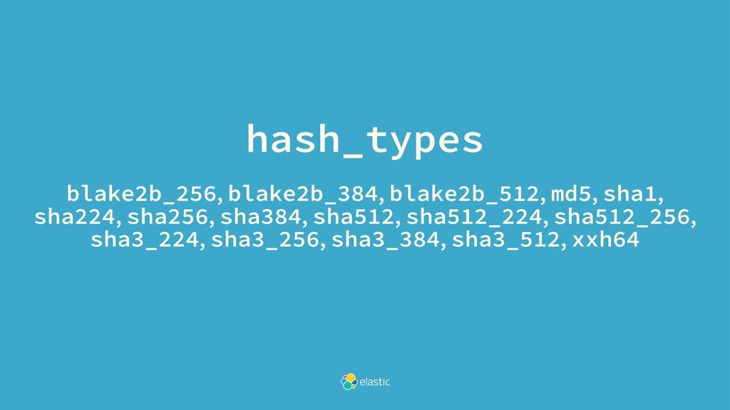 hash_types blake2b_256, blake2b_384, blake2b_51...
