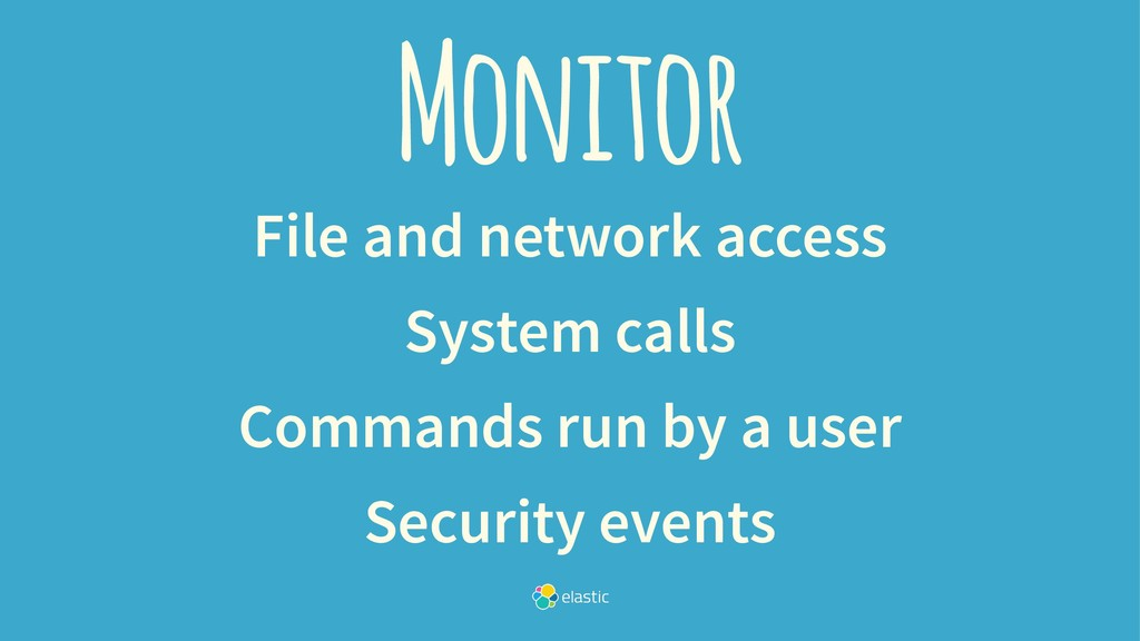 Monitor File and network access System calls Co...