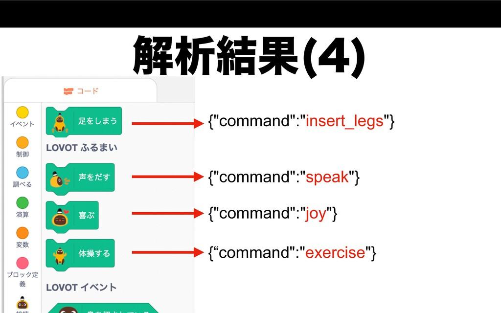 "ղੳ݁Ռ   {""command"":""insert_legs""} {""command"":""s..."