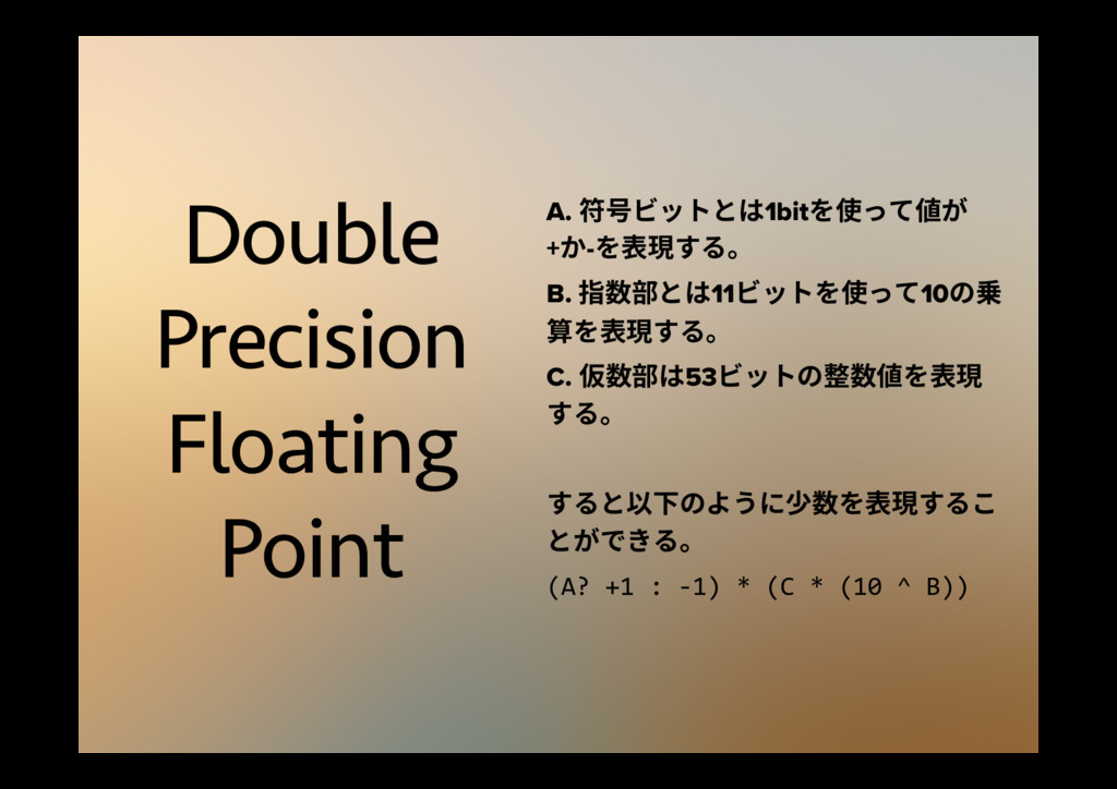 Double Precision Floating Point A. 痗〾ؽحزהכ1bit...