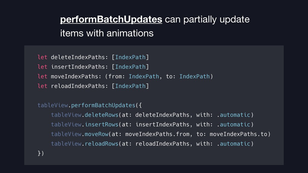 performBatchUpdates can partially update items ...