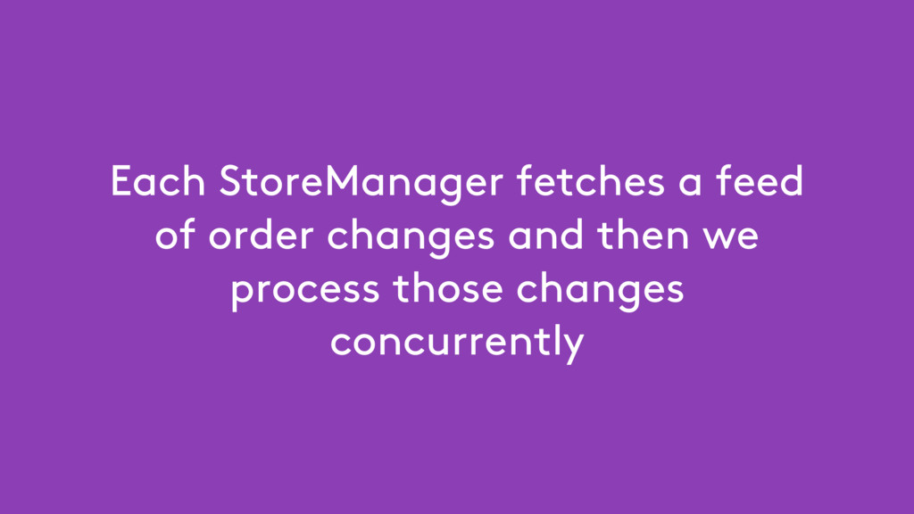 Each StoreManager fetches a feed of order chang...