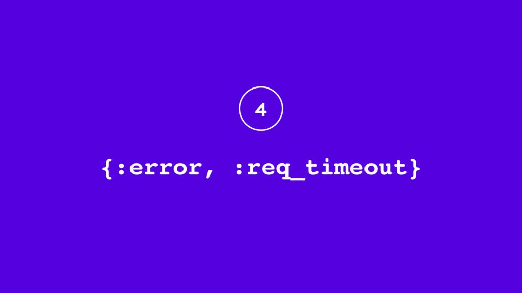 {:error, :req_timeout} 4