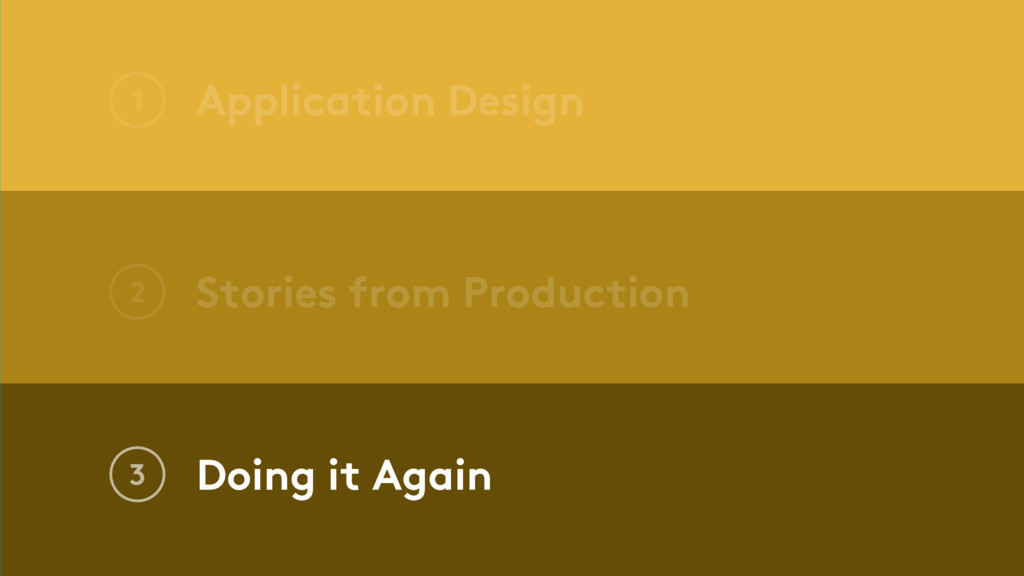 Application Design 1 Stories from Production 2 ...