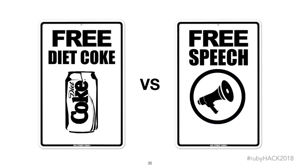 !35 #rubyHACK2018 SPEECH DIET COKE VS