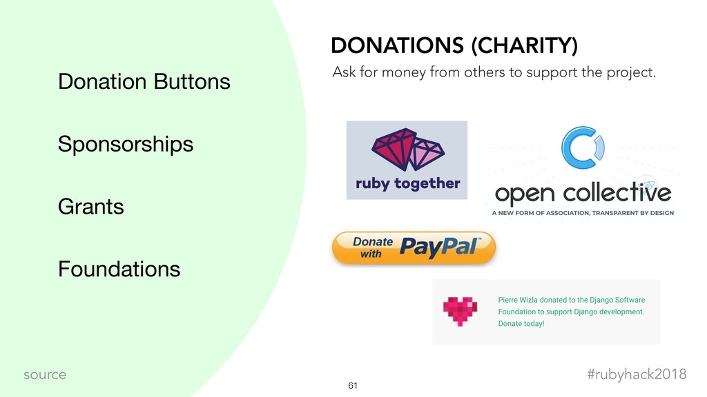 !61 #rubyhack2018 source Donation Buttons Spons...