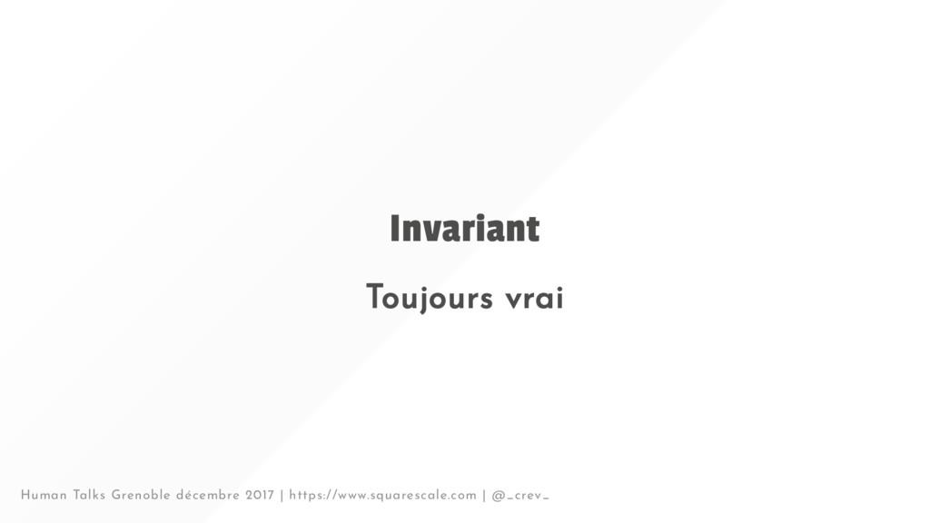 Invariant Toujours vrai Human Talks Grenoble dé...