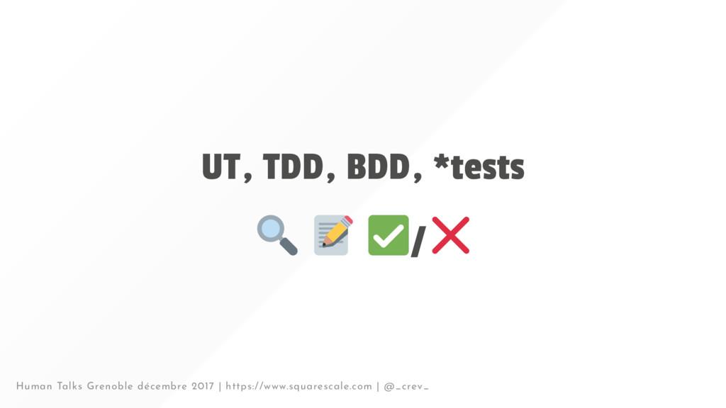 UT, TDD, BDD, *tests / Human Talks Grenoble déc...
