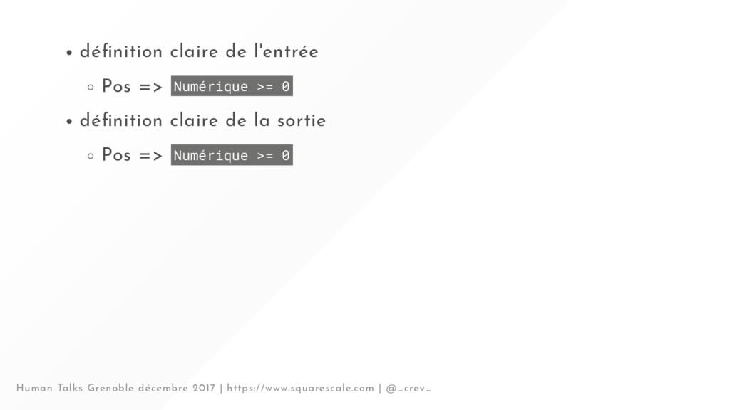 dé nition claire de l'entrée Pos => Numérique >...
