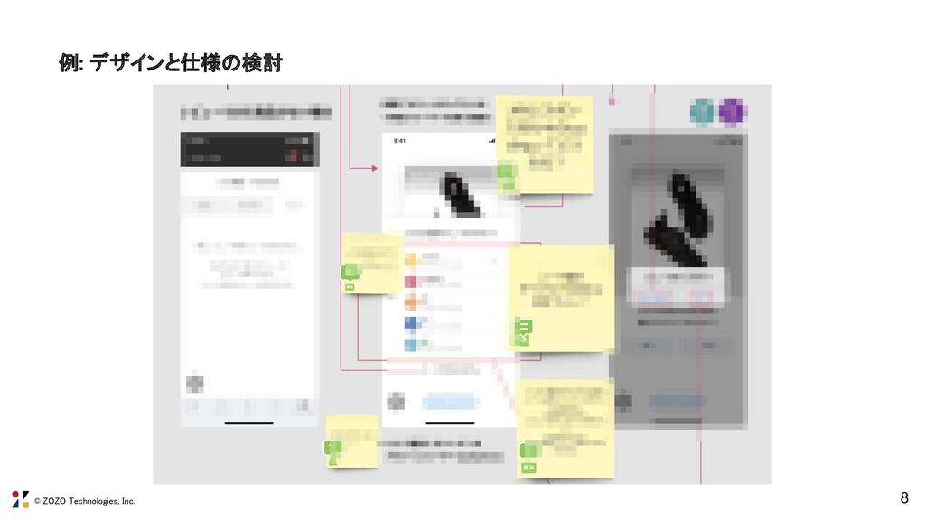 © ZOZO Technologies, Inc. 8 例: デザインと仕様の検討