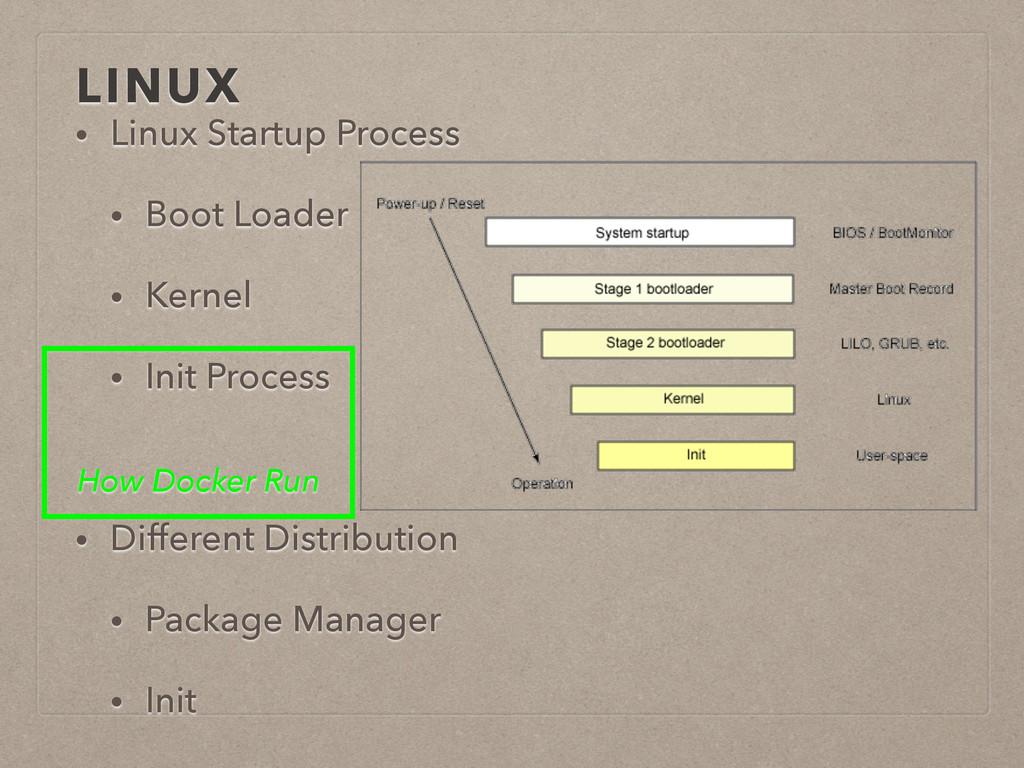 LINUX • Linux Startup Process • Boot Loader • K...