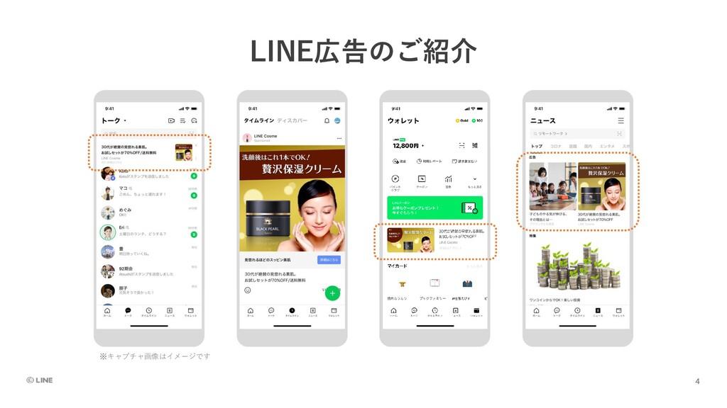 LINE広告のご紹介 ※キャプチャ画像はイメージです