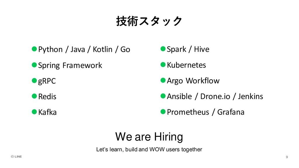 技術スタック ⚫Python / Java / Kotlin / Go ⚫Spring Fra...
