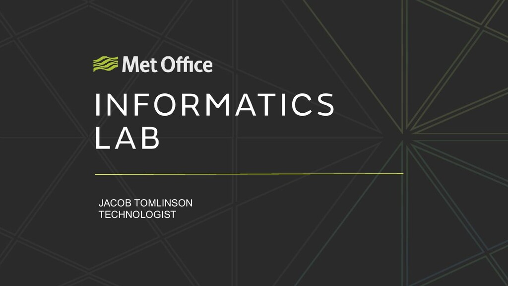 The story of the Informatics Lab Jacob Tomlinso...