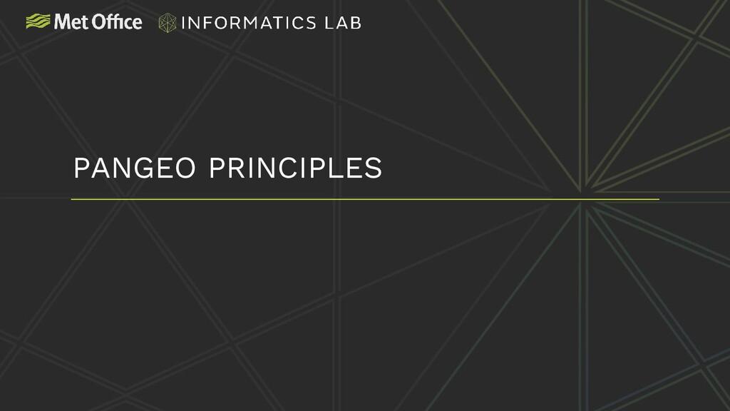 PANGEO PRINCIPLES