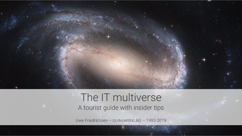 The IT multiverse A tourist guide with insider ...