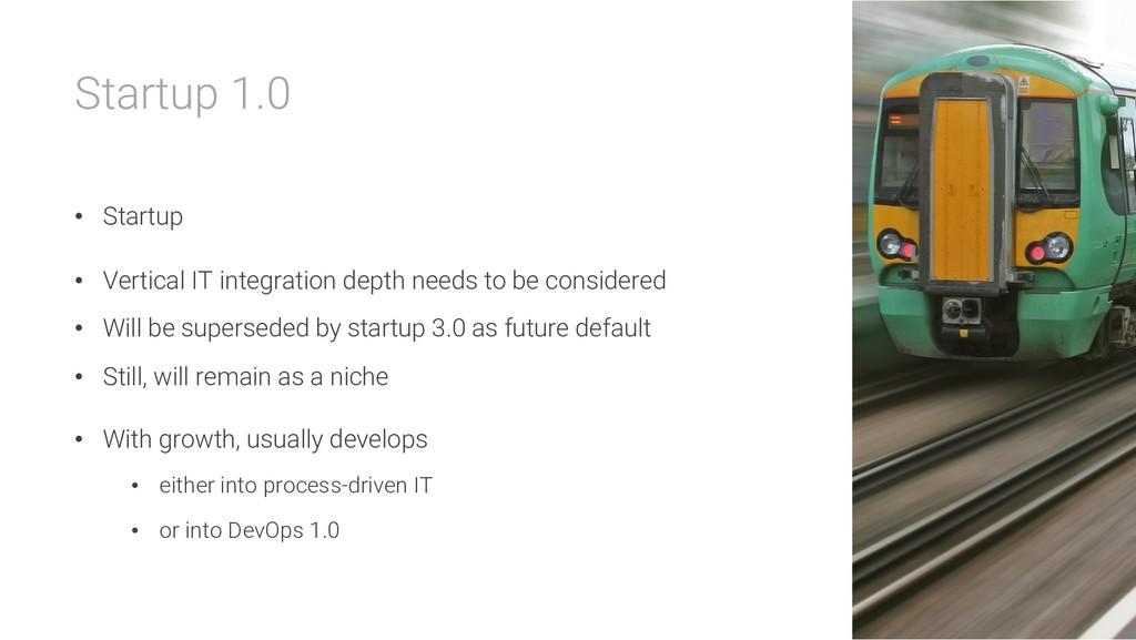 Startup 1.0 • Startup • Vertical IT integration...