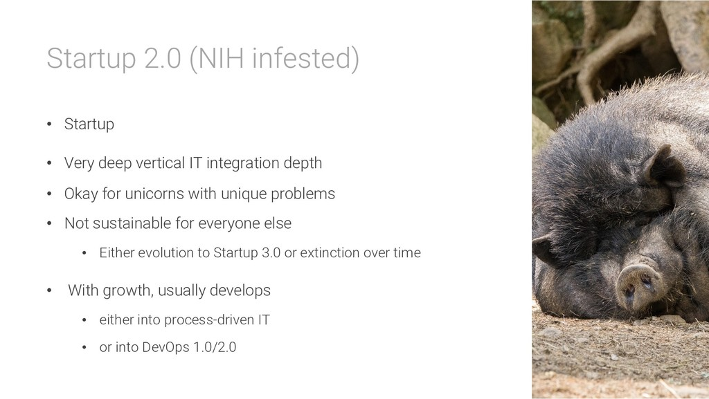 Startup 2.0 (NIH infested) • Startup • Very dee...