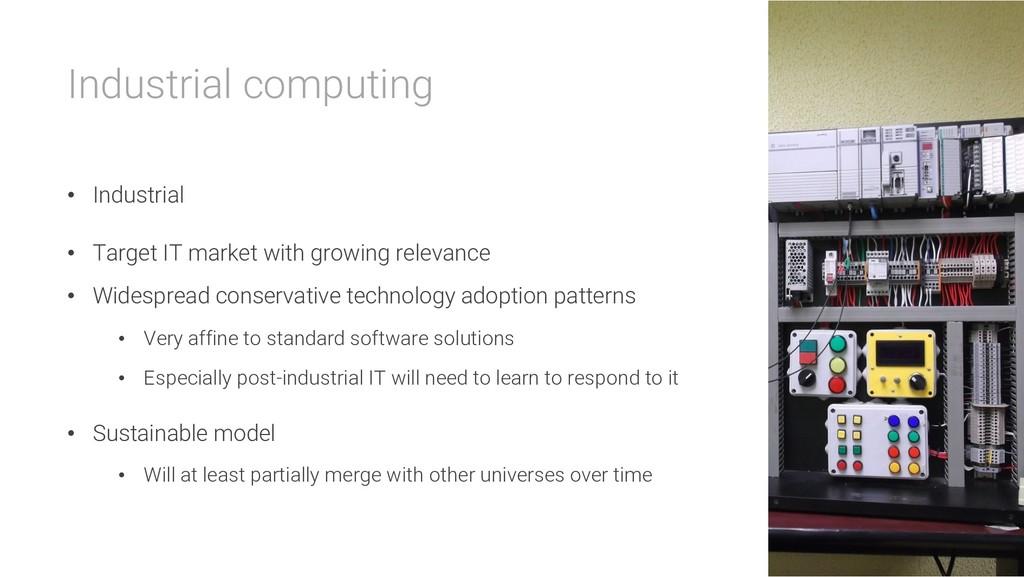 Industrial computing • Industrial • Target IT m...